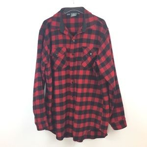 Vintage Woolrich Wool Buffalo Check Button Up Long